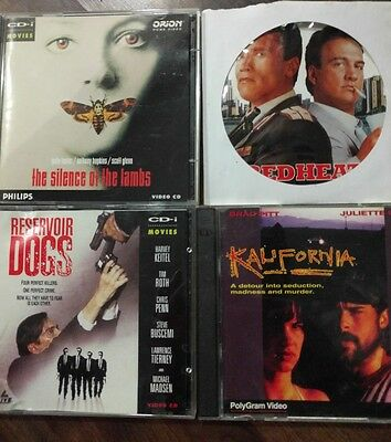 Vcd movies-  Red heat, silence of the lambs, kalifornia and Reservoir dogs