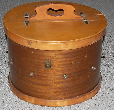 Vintage LEEDS 1960's Drum Accessory Wood Wooden Storage Carrying Case