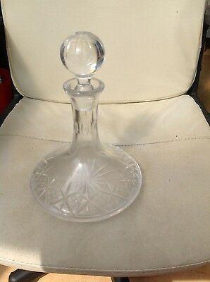 Vintage Cut Crystal Ships Decanter - Matches Edinburgh Appin