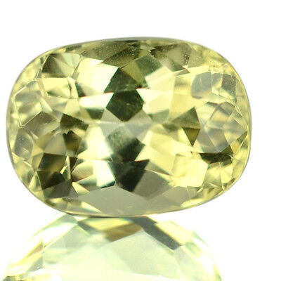 6.72 Ctw Unbelievable Very Rare Color Luster Cut Natural Yellow Kunzite