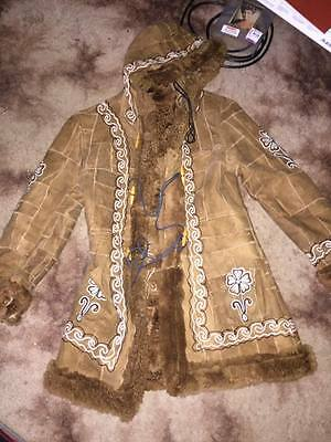 Beautiful Penny Lane Boho Suede hippe patchwork coat size 8-10