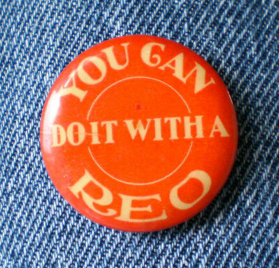 """Scarce 1905-1910 You Can Do It With A REO Automobile Co. 1 1/4"""" Cello Lansing,Mi"""