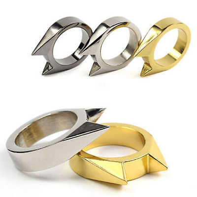 Gold/Silver Self Defense Defence Protect Ring Metal Survival Fight  - AU STOCK
