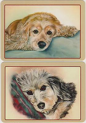 Swap/Playing Cards ~ BEAUTIFUL DOG FACES ~ Modern Horizontal Wide Pair