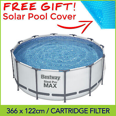 NEW 2018 MODEL Bestway STEEL PRO MAX Above Ground Swimming Pool 12ft / 3.66m