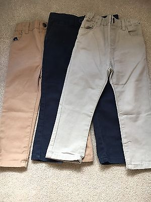 3 Pairs Of Boys Trousers 18-24 Months