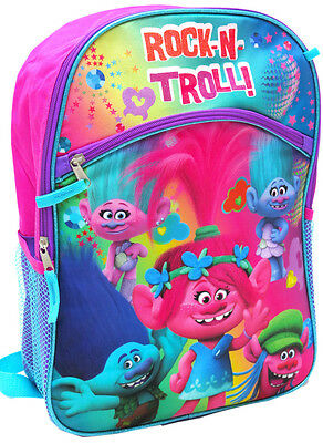 New Backpack Trolls School Bag Kids Daycare Preschool Children Girls Gift Toys