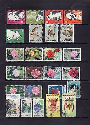 25 all different stamps from China - see scan