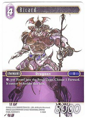 Ricard (1-146H) - Hero Card - Final Fantasy Tcg Opus 1 English
