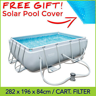 Bestway Above Ground Swimming Pool 282 x 196 x 84 cm with Cartridge Filter