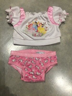Build A Bear Teddy Bear Clothes T-shirt And Underpants