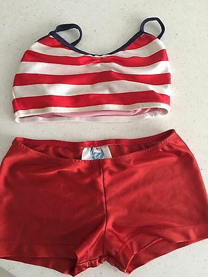 Little Girls Dancing Costume Jazz Outfit Size 8