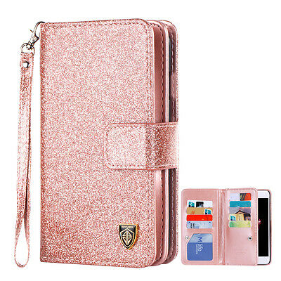 BENTOBEN US Luxury Bling Leather Card Wallet Flip Case Cover for Apple iPhone 7