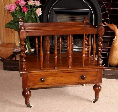 An Elegant Decorative Victorian Mahogany Canterbury, Magazines, Books, Storage