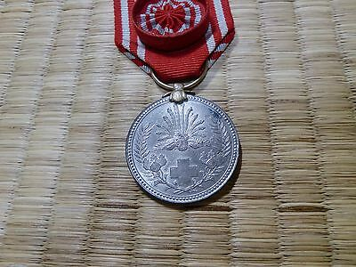 WWII Japanese Red Cross Medal ARMY NAVY BADGE ORDER ANTIQUE FLAG 0A47
