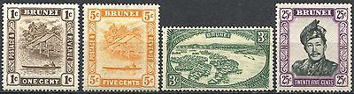 BRUNEI Small Lot of Mint Stamps MNH / MLH CV 4.55