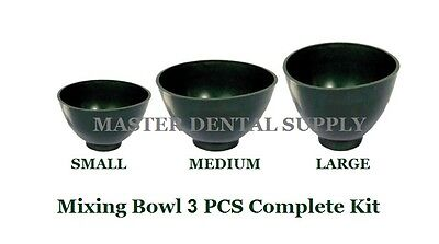 Dental Lab Mixing Bowl Flexible Alginate Stone GREEN 3 PCS KIT: S M  L Hygienist
