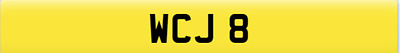 dateless 1x3 cherished 4 digit personalise rare car reg number plate WCJ 8