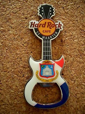 HRC Hard Rock Cafe St Maarten Magnet Bottle Opener Flag Series NEW