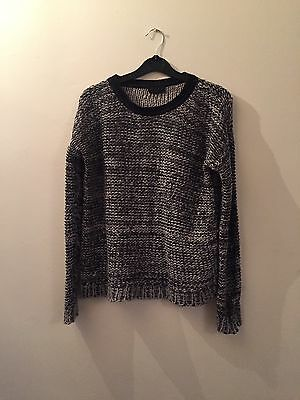 TOPSHOP Grey Knitted Jumper Size 8
