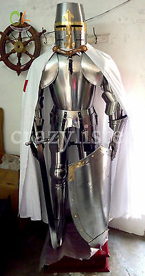 Medieval Wearable Knight Crusador Full Suit Of Armor Collectible Armour Costume
