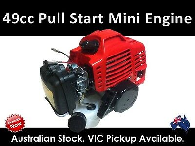 49cc 2 Stroke Pull Start Engine Mini Pocket Quad Dirtbike ATV Buggy Motor