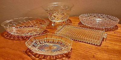 Vintage Cut Glass/Crystal Serving Bowls/Dishes Bon Bon Dishes Collectable Glass