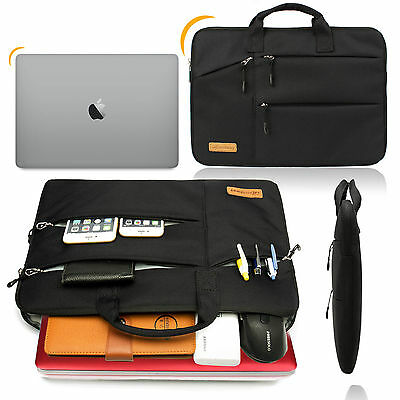 Shockproof 13 14 15.6'' Laptop Sleeve w/4 zipper Pocket&Handle Notebook Bag Case