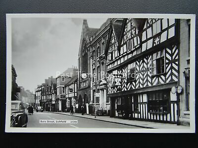 Staffordshire LICHFIELD Bore Street showing The Guildhall c1960's RP Postcard