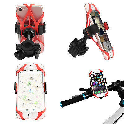 Universal Bike Motorcycle Handlebar Clip Mobile Phone GPS Mount Holder Stand UK