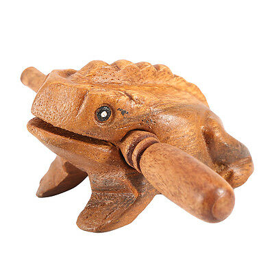 Thailand Craft Wooden Lucky Frog Croaking Musical Instrument Home Office Decor