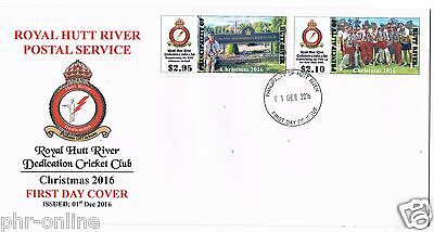 "Principality of Hutt River ""CHRISTMAS 2016"" FDC se-tenant pair PHR Cricket Team"
