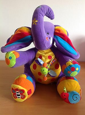 Tolo Toys Purple Activity Plush Soft Toy Elephant