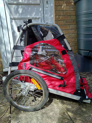 Halfords bike trailer 'Trail Buggy' black and red