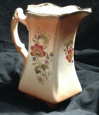 Staffordshire Pottery Vintage Jug Pourer England Tableware Kitchen Pot Milk