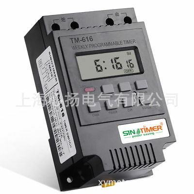 30AMP 7 Days Programmable Digital TIMER SWITCH Control Time Din Rail Mount