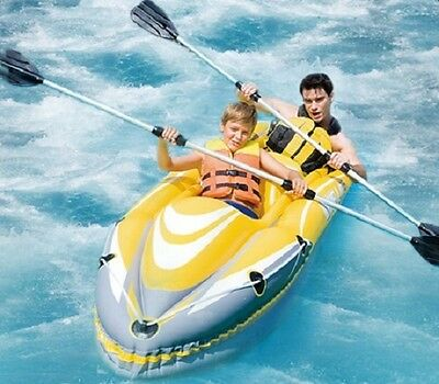 Inflatable Kayak.2 person.Complete set.Boat paddles.Inflatible blow up air canoe