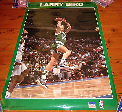 Vintage Larry Bird 1990 Starline Nba Poster Rare Large 34X22 Inches Laminated