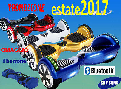 Hoverboard Elettrico 6,5 Bluetooth Luci A Led Smart Balance Overboard