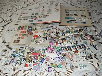 collection of stamps in 3 albums and loose stamps