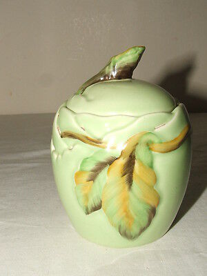 Clarice Cliff Art Deco Chestnut Lidded Jam-Pot Truly Stunning