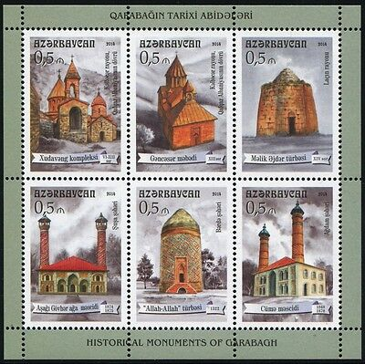 Aserbaidschan Azerbaijan 2014 Kirchen Moscheen Churches Mosques Block 150 MNH