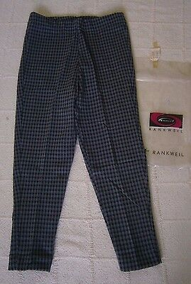 Vintage Stretch Cropped Trousers - Age 6 - Black & Grey Check - New