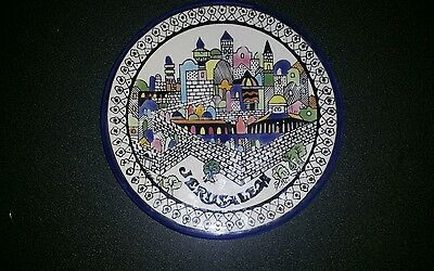 Vintage ceramic wall plate of Jerusalam