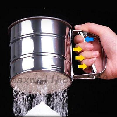Stainless Steel Flour Sifter Shaker Sugar Cocoa Chocolate Sprinkler Sieve