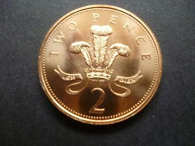 1999 Brilliant Uncirculated Two Pence Piece.1999 Uncirculated 2P Coin.