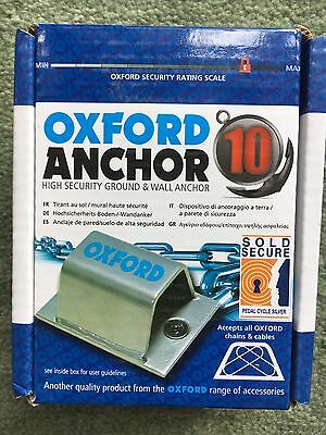Oxford Ground Anchor Motorbike Wall Security New