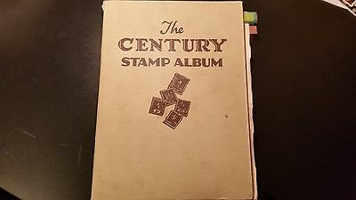 Old Century Stamp Album: Mixed Lot Of World Stamps - 1700 Used Stamps.