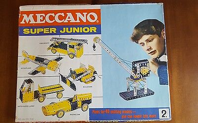 Vintage 1960s MECCANO SUPER JUNIOR SET 2 BOXED and additional set