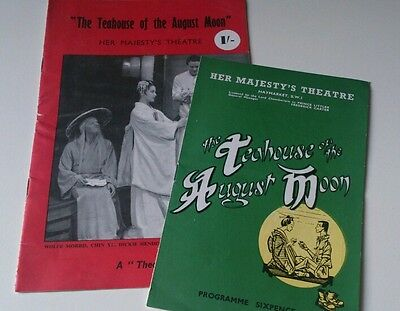 """""""the Teahouse Of The August Moon""""/1954/prog/her Majesty's Theatre London"""